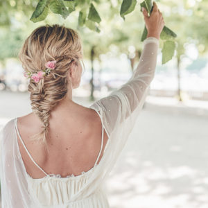 Hairstyle at home for engagement